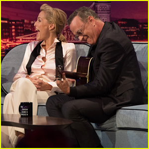 Gillian Anderson & Tom Hanks Face Their Musical Performance Fears on 'Late Late Show'!
