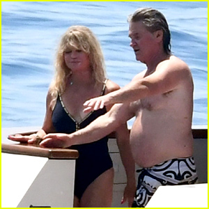 Goldie Hawn & Kurt Russell Don Swimsuits for Family Vacation on Amalfi Coast