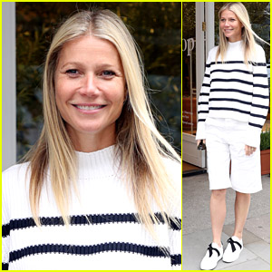 Gwyneth Paltrow Rocks Stripes & Shorts at a Goop Store Book Signing in London