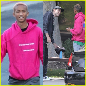 Jaden Smith Runs Into Harry Hudson Ahead of a Business Meeting in LA