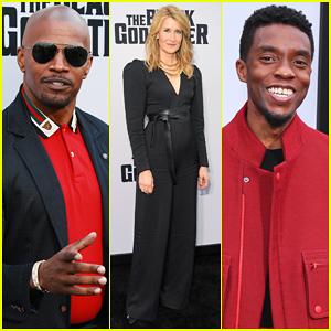 Jamie Foxx, Laura Dern & Chadwick Boseman Support 'The Black Godfather' Premiere!