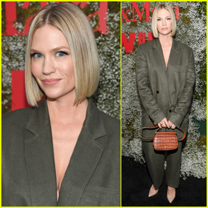January Jones Shows Off New, Blunt Bob at Max Mara Face of the Future Event