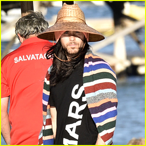 Jared Leto Bundles Up, Tries to Go Incognito in Sardinia