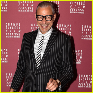Jeff Goldblum Rocks Pin-Striped Suit for Champs-Elysees Film Festival 2019