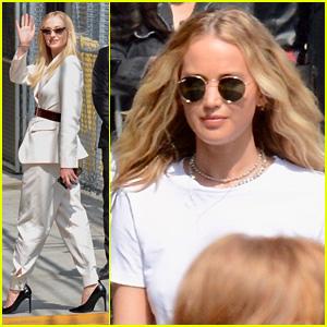 Jennifer Lawrence Joins 'Dark Phoenix' Co-Star Sophie Turner For 'Jimmy Kimmel Live' Appearance