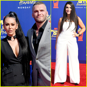 Jenni 'JWoww' Farley & Boyfriend Zack Clayton Carpinello Couple Up for MTV Movie & TV Awards 2019