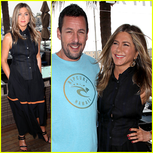 Jennifer Aniston Joins Adam Sandler at 'Murder Mystery' Photo Call