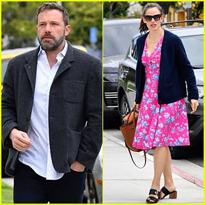 Jennifer Garner & Ben Affleck Bring Their Kids to a Sunday Church Service