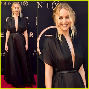 Jennifer Lawrence Raves About Her Fiance at 'Dark Phoenix' Premiere