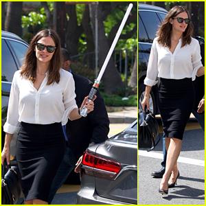 Jennifer Garner Brings a Lightsaber to Church With Ben Affleck & the Kids