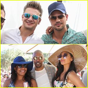 Jeremy Renner, Taylor Lautner, Jamie Foxx & More Celebrate Rosé Day L.A!