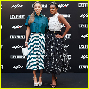 Jessica Alba & Gabrielle Union Team Up To Bring 'L.A.'s Finest' In Madrid!