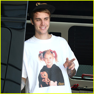 Justin Bieber Wears Another Drew Barrymore T-Shirt Out in LA