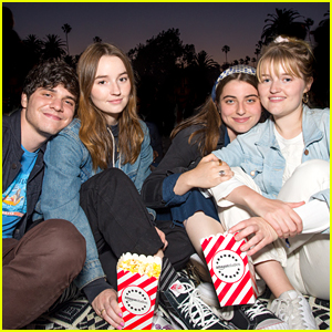 Kaitlyn Dever & Jack Quaid Swim To See 'Jaws' at Cinespia