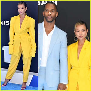 Karrueche Tran & Victor Cruz Couple Up for BET Awards 2019