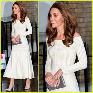 Duchess Kate Middleton Wears Cream Dress for Addiction Awareness Week Dinner