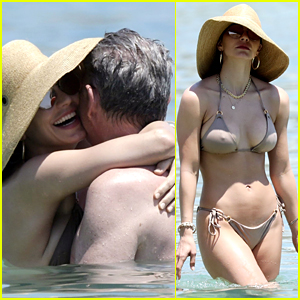 Katharine McPhee Flaunts PDA at the Beach with Fiance David Foster in Mykonos!