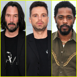 Keanu Reeves Joins Sebastian Stan & Lakeith Stanfield at Saint Laurent's Malibu Fashion Show