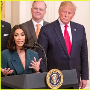 Kim Kardashian Joins President Trump at White House to Discuss Criminal Justice Reform