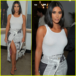 Kim Kardashian Shows Her Style at Wardrobe.NYC Launch Party!