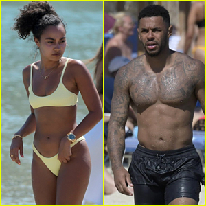 Little Mix Star Leigh-Anne Pinnock Hits the Beach With Boyfriend Andre Gray in Mykonos
