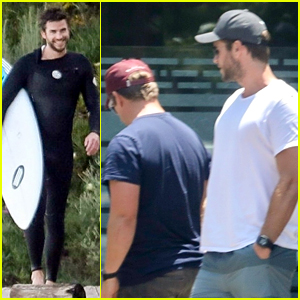 Liam Hemsworth Hangs with Brother Luke While Miley is Away