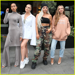 Little Mix Make Rounds Promoting New Single 'Bounce Back' In London - Watch The Music Video Here!