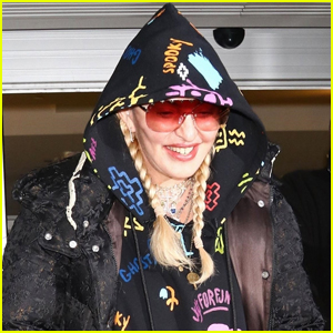 Madonna is All Smiles Arriving at JFK Airport in NYC!