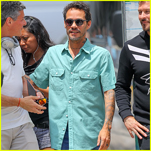 Marc Anthony Arrives to Shoot Scenes for 'In The Heights' Movie in NYC!