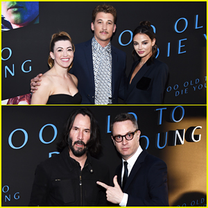 Miles Teller Gets Support from Fiancee Keleigh Sperry & Keanu Reeves at 'Too Old To Die Young' Premiere!