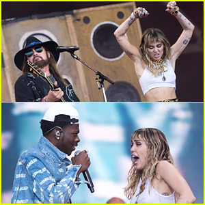 Miley Cyrus Brings Dad Billy Ray & Lil Nas X As Surprise Guests at Glastonbury Festival!