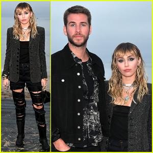 Miley Cyrus & Liam Hemsworth Couple Up for Saint Laurent's Malibu Fashion Show