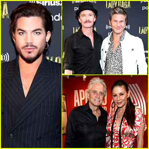 Neil Patrick Harris, Adam Lambert, & Catherine Zeta-Jones Step Out for Lady Gaga's Enigma Show at the Apollo