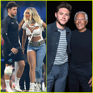 Niall Horan Plays In Soccer Aid For Unicef Game After Attending Emporio Armani Fashion Show