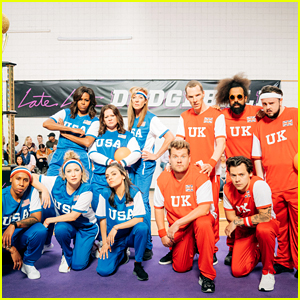 Michelle Obama & James Corden Face Off in a Celebrity-Filled Dodgeball Match - Watch Now!