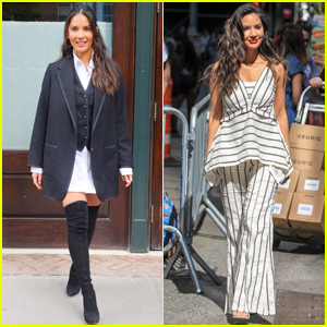 Olivia Munn Switches Up Her Look For 'The Rook' Promo in NYC