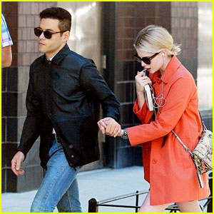 Rami Malek & Lucy Boynton Hold Hands While Shopping Together in NYC