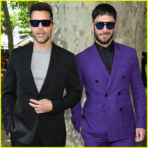 Ricky Martin & Jwan Yosef Couple Up at Berluti Fashion Show in Paris!