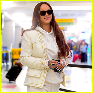 Rihanna Lands in New York After a Vacation With Her Boyfriend