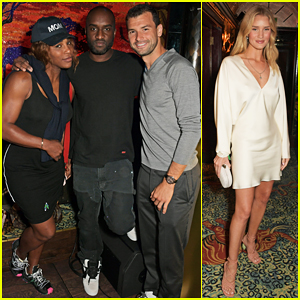 Serena Williams Parties with Grigor Dimitrov & Rosie Huntington-Whiteley Ahead of Wimbledon!