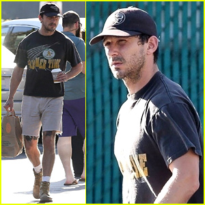 Shia LaBeouf Shows Off His Leg Tattoos While Grocery Shopping