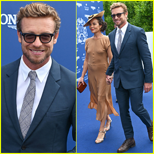 Simon Baker & Wife Rebecca Rigg Couple Up at Prix De Diane 2019!