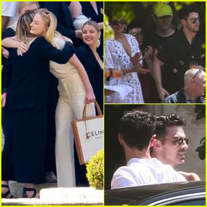 Joe Jonas & Sophie Turner Greet Family & Friends at Pre-Wedding Event (Photos)