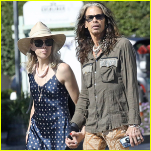 Steven Tyler & Girlfriend Aimee Preston Hold Hands During WeHo Outing