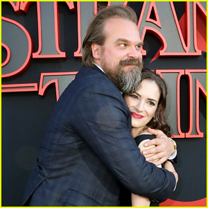 Winona Ryder & David Harbour Hug It Out at 'Stranger Things