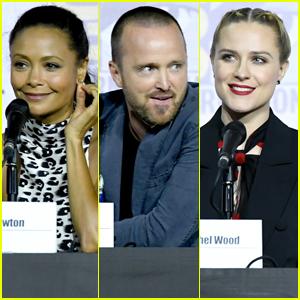Aaron Paul Joins Thandie Newton & Evan Rachel Wood at 'Westworld' Comic-Con 2019 Panel