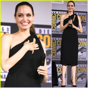 Angelina Jolie Joins 'The Eternals' Co-Stars at Comic-Con 2019!
