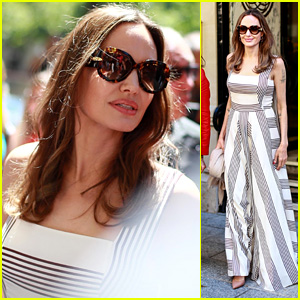 Angelina Jolie Looks Chic While Visiting Guerlain Boutique in Paris