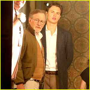 Ansel Elgort Spotted Shooting Night Scenes For 'West Side Story' With Mike Faist