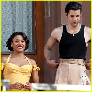 Ariana DeBose Films 'West Side Story' Scene with David Alvarez!
